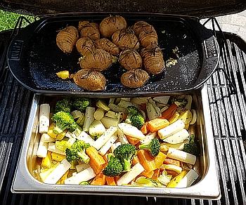 Gemüse und Erdäpfeln am Griller 350x292