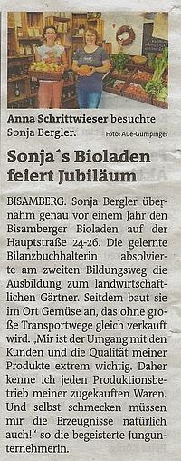 2018_10_03 Bezirksblatt 1Jahr Bioladen 200x508